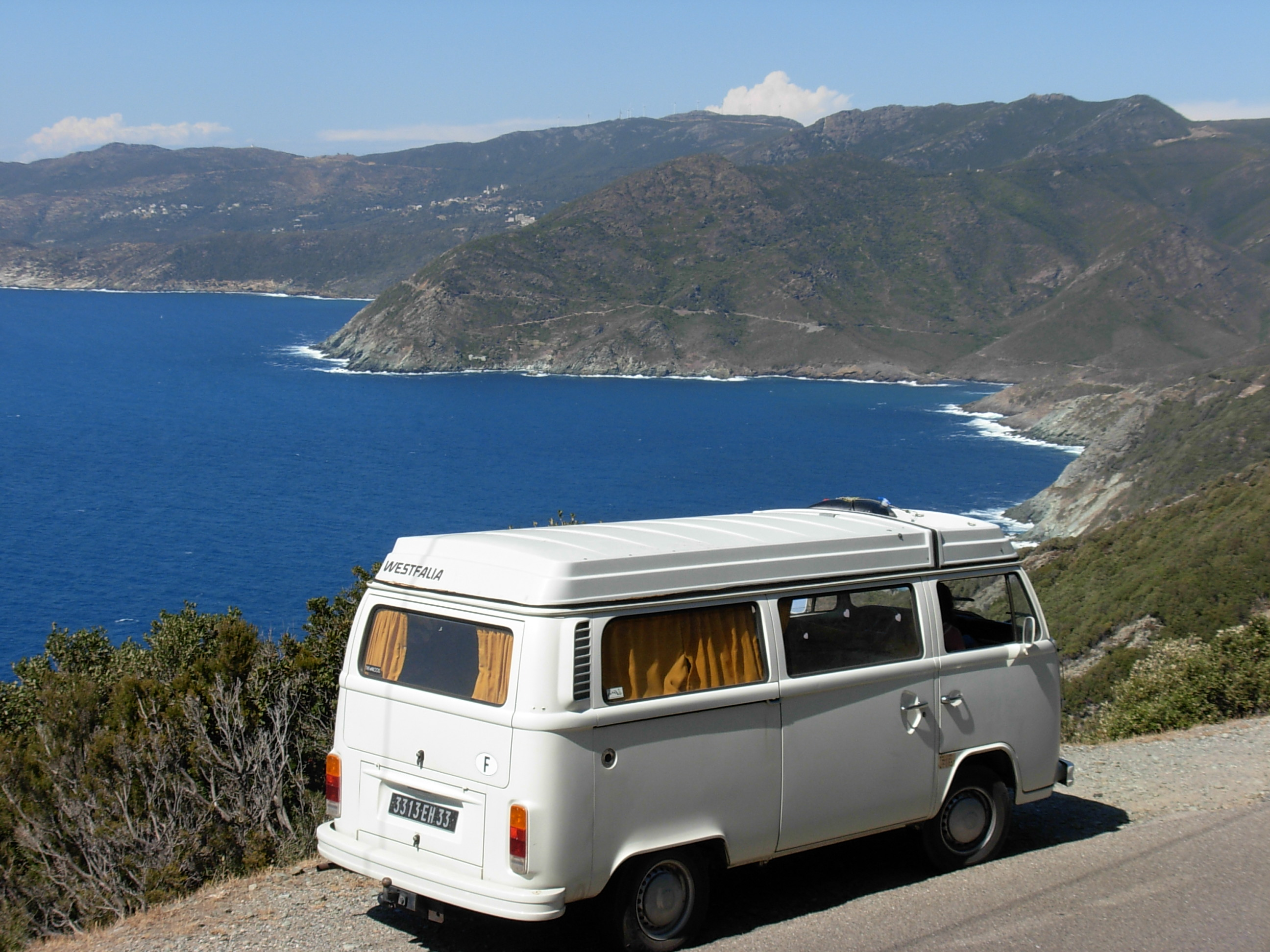 Westy VW sur la Cote Basque