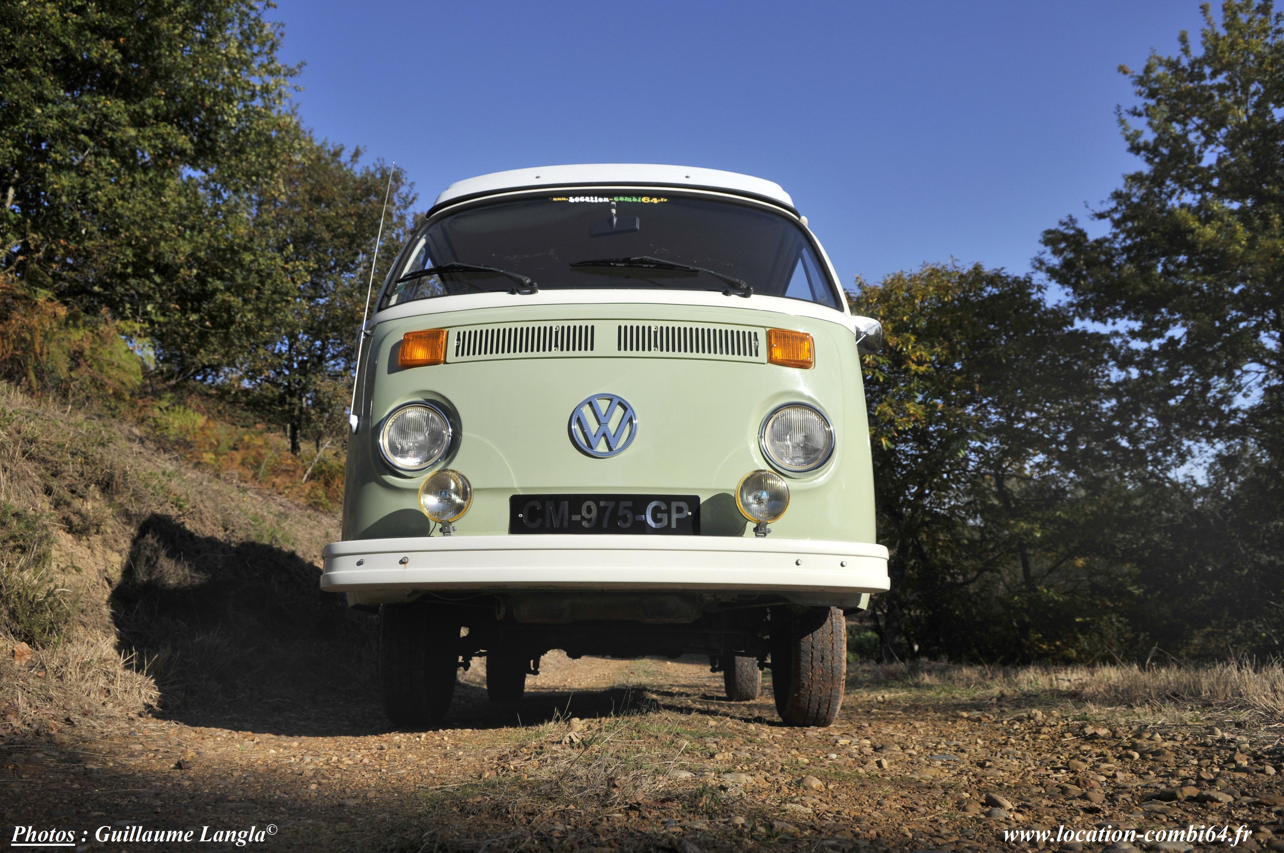 combi VW en gros plan