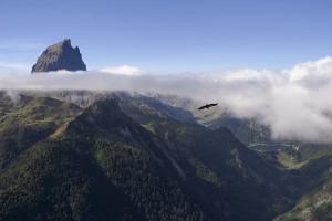 Pic du Midi d'Ossau vu de la station d'Artouste