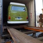 déchargement du combi VW