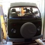 Westy en container Vintage Autohaus